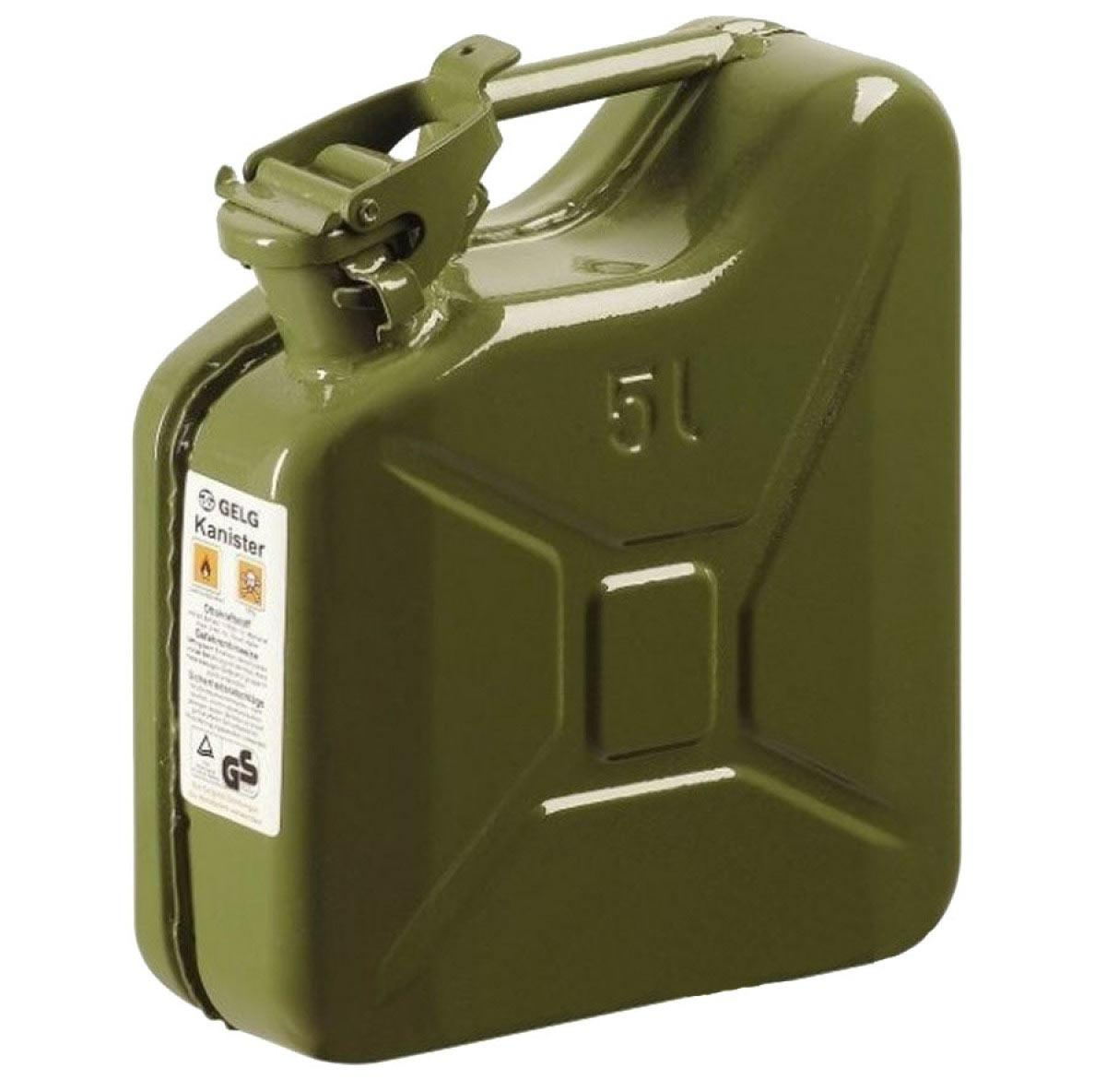 Каністра 5 л для бензину, металева Gelg (66576)