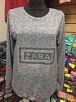 Кофта женская из ангоры ZARA софт цвет серый светлый