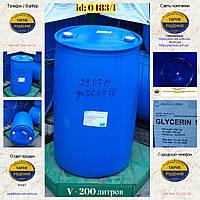 0483/1: Бочка (200 л. б/у пластикова ✦ Гліцерин 99,5%
