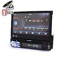 """Автомагнитола 1Din Pioneer 712 с экраном 7"""" (Отличный звук/30 станций/AUX) + ПОДАРОК!"""