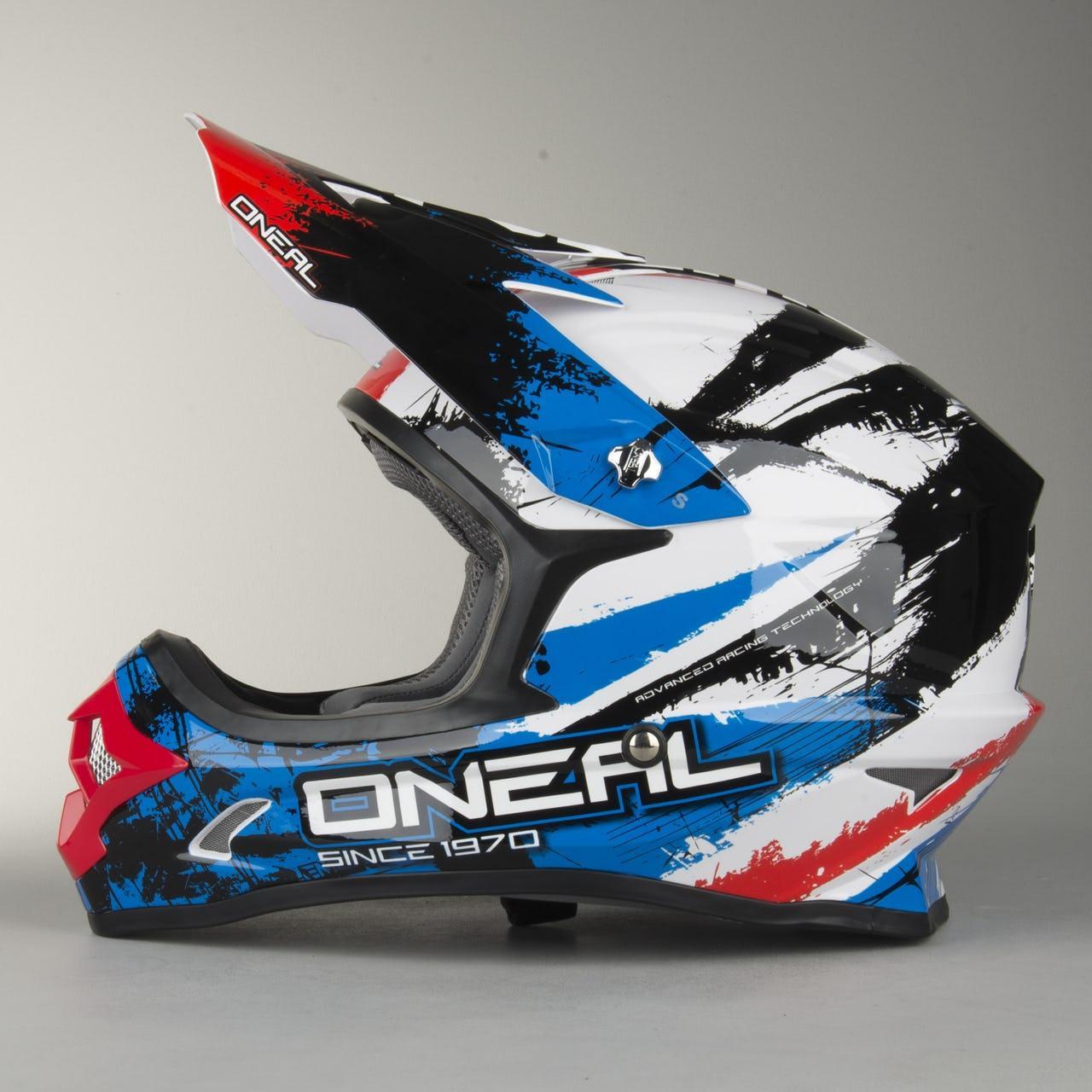 Шлем Oneal (O'NEAL 3Series ) O'Neal 3-Series Shocker Helmet Black-Blue-Red