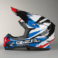 Шлем Oneal (O'NEAL 3Series ) O'Neal 3-Series Shocker Helmet Black-Blue-Red, фото 1