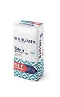 Клей для плитки Standart КМ-11, KRUMIX для внутренних и наружных работ
