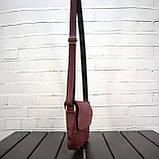 Сумка sv lady бордо из натуральной кожи crazy horse, фото 6
