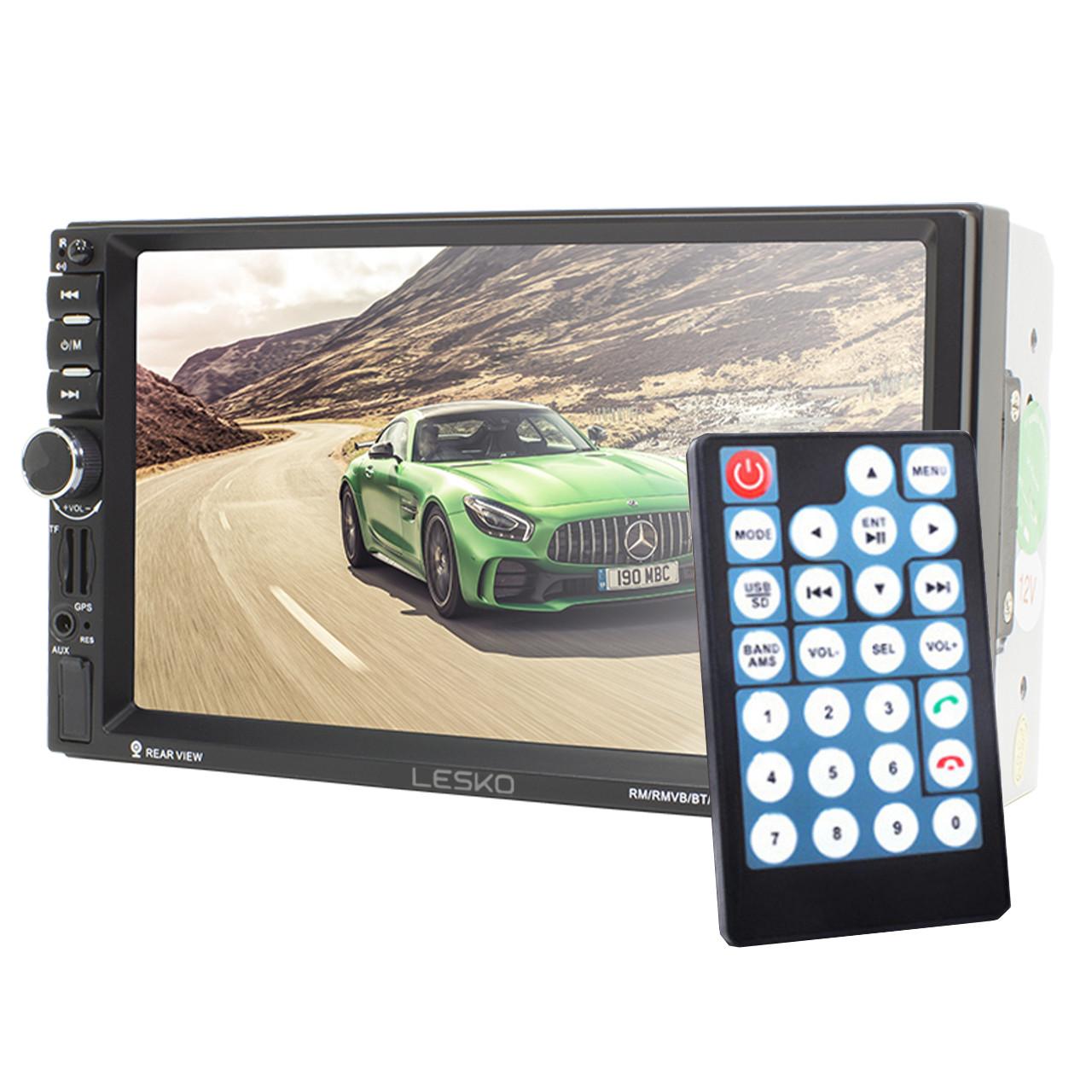 """Магнитола 2 din Lesko 7021G сенсорный экран 7"""" на Windows с навигатором bluetooth MP3 пульт ДУ"""