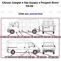 Ремчасть бока левая=правая (длинная база) Ducato/Jumper/Boxer -06 (FPS). FP2092010