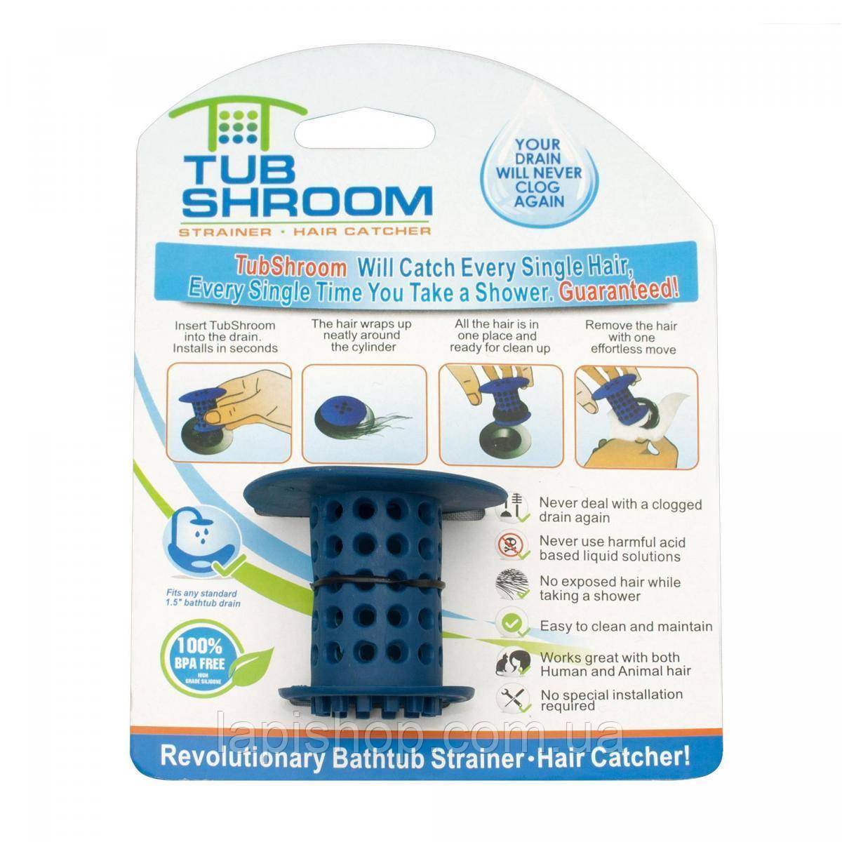 Пробка для ванной TUB SHROOM от засора