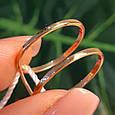 Минималистичное золотое кольцо - Кольцо 2 полоски из красного золота в стиле минимализм, фото 8