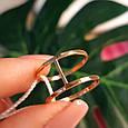Минималистичное золотое кольцо - Кольцо 2 полоски из красного золота в стиле минимализм, фото 7