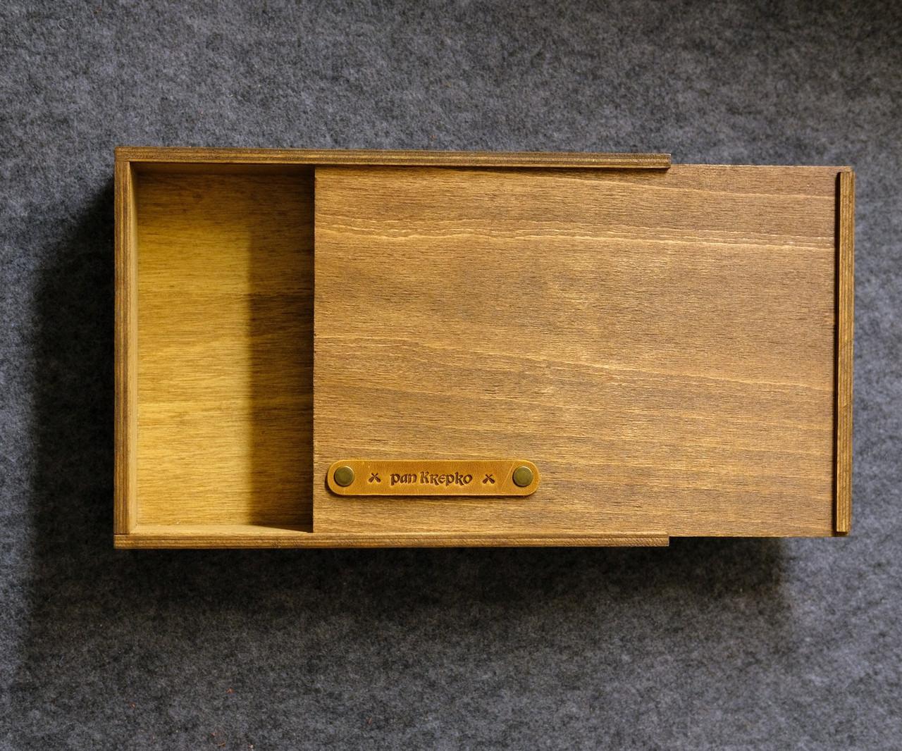 Дерев'яна коробка подарункова «NotaBoxW»