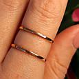 Минималистичное золотое кольцо - Кольцо 2 полоски из красного золота в стиле минимализм, фото 5