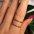 Минималистичное золотое кольцо - Кольцо 2 полоски из красного золота в стиле минимализм, фото 4