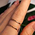 Минималистичное золотое кольцо - Кольцо 2 полоски из красного золота в стиле минимализм, фото 2