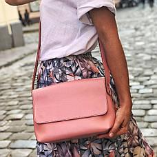 Кожаная сумка кросс-боди Cross женская голубая, фото 2