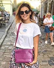 Кожаная сумка кросс-боди Cross женская голубая, фото 3