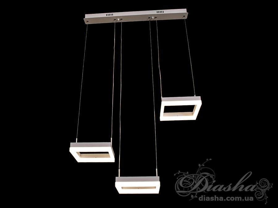 Современная светодиодная люстра, 42W&D2047/3-S-BK
