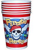 Стаканы праздничные Pirate Party 6 шт 170216-079