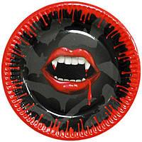 Тарелки праздничные Вампиры 6 шт 170216-100