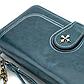 Женский Кошелек Портмоне Baellerry (N1813) на Молнии для Карточек с Ремешком Синий, фото 8