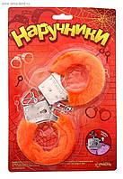 Плюшевые оранжевые наручники 329110