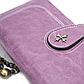 Женский Кошелек Портмоне Baellerry (N1813) на Молнии для Карточек с Ремешком Фиолетовый, фото 8