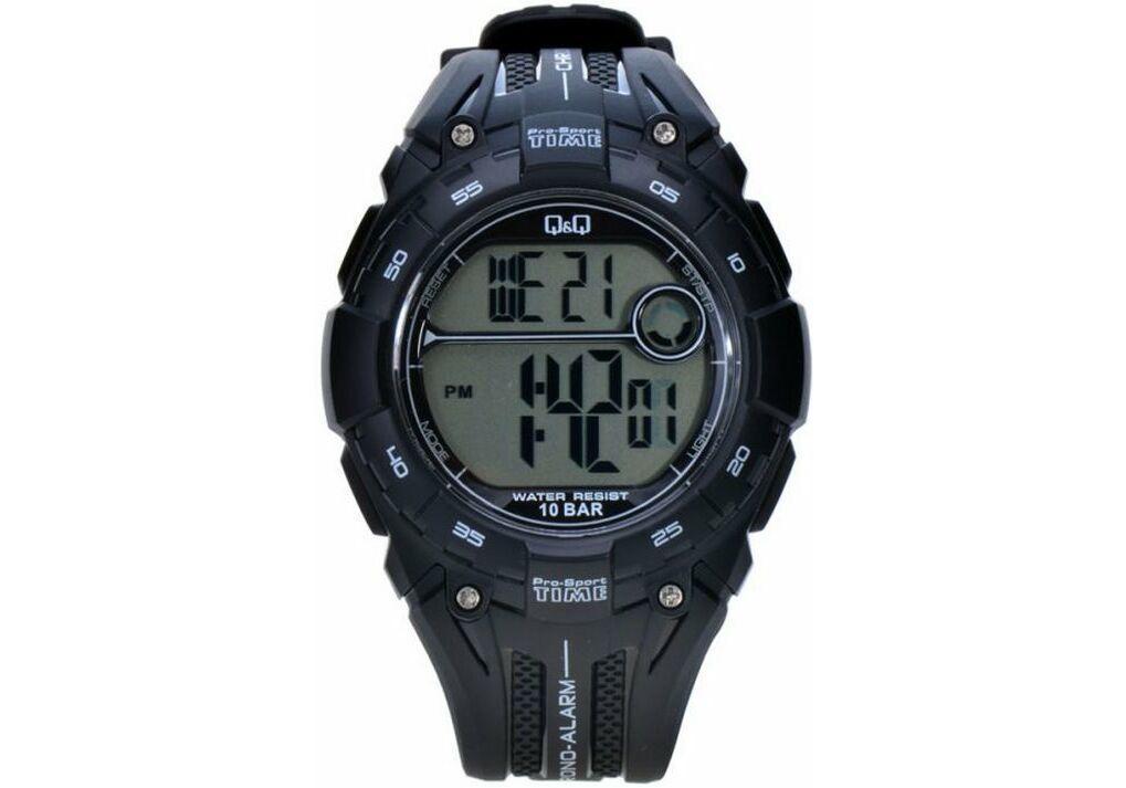 Q&Q M121 чорні чоловічі спортивні годинник