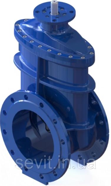 Засувка з гумованим клином під електропривод T. I. S service (Італія) A020 PMOT I DN250 PN10 (ДУ250 РУ10)