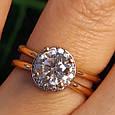 Золотое кольцо с фианитом - Золотое кольцо на помолвку, фото 2