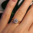 Золотое кольцо с фианитом - Золотое кольцо на помолвку, фото 10