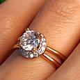 Золотое кольцо с фианитом - Золотое кольцо на помолвку, фото 5
