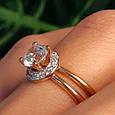 Золотое кольцо с фианитом - Золотое кольцо на помолвку, фото 9
