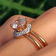 Золотое кольцо с фианитом - Золотое кольцо на помолвку, фото 6