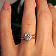 Золотое кольцо с фианитом - Золотое кольцо на помолвку, фото 3