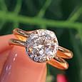 Золотое кольцо с фианитом - Золотое кольцо на помолвку, фото 4