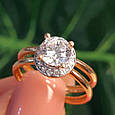 Золотое кольцо с фианитом - Золотое кольцо на помолвку, фото 7