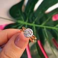Золотое кольцо с фианитом - Золотое кольцо на помолвку, фото 8