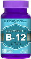 PipingRock B Complex Plus Vitamin B-12 180 Tab