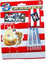 Набор д/торта (пики+свечи) Пираты 1502-3076