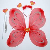 Набор мотылек сердце (красный) 250216-049