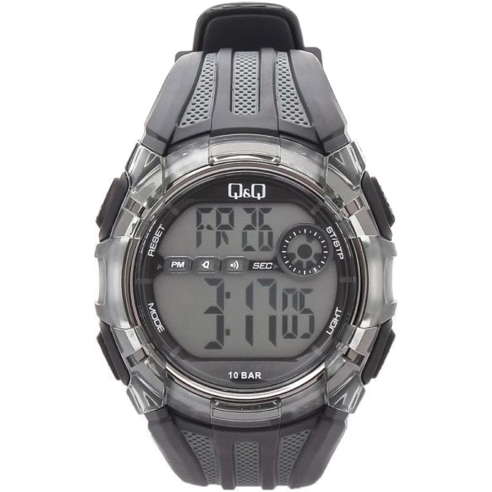 Q&Q M118 чорні з сірим чоловічі спортивні годинник