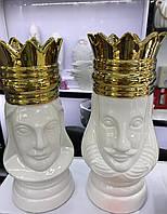 Статуэтка-ваза фигура шахматная Королевская персона (набор 2шт.)