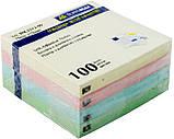 Блок бумаги для заметок PASTEL 76х76мм 100л с клейким слоем ассорти, фото 2