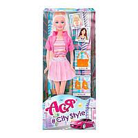 Лялька Ася Стиль великого міста блондинка в спідниці (35123)