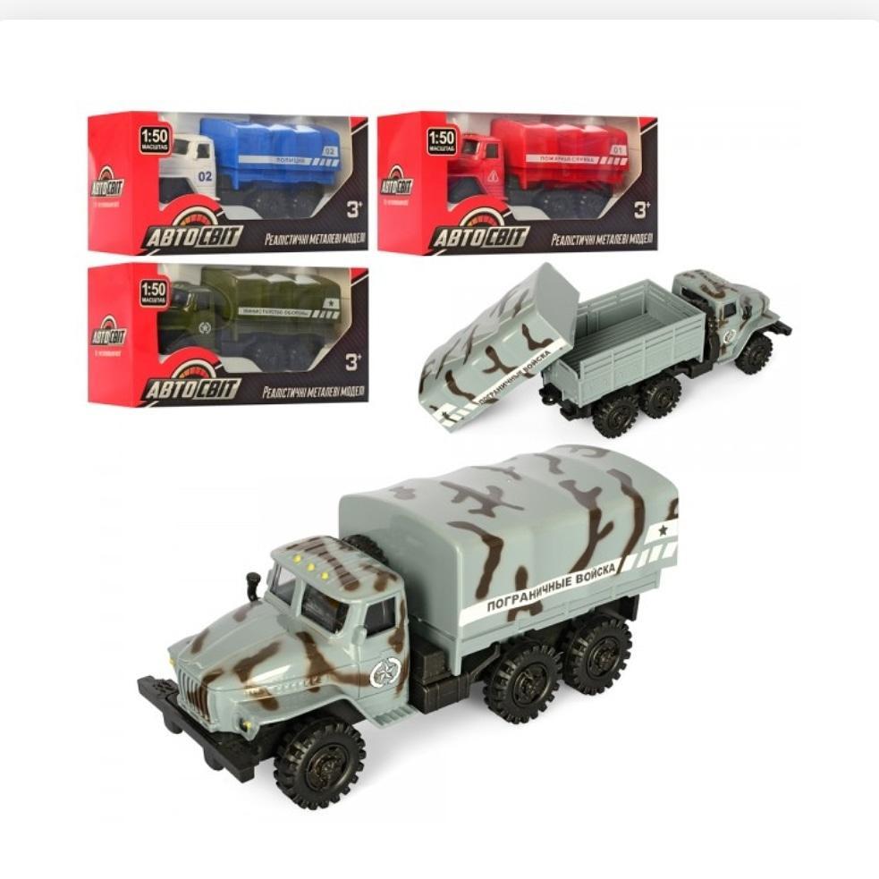 Машина AS-2358 АвтоСвіт, металл, инер-я,10,5см, резин.колеса,3вида, в кор-ке, 14-6,5-6см