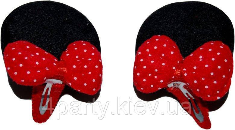 Заколки ушки Минни Маус (Черные) 250216-381