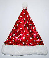 Шапка Деда Мороза красная звезды 040316-138