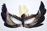 Маска карнавальная с перьями 240216-361