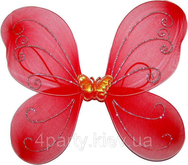 Крылья бабочки детские (Красные) 250216-053