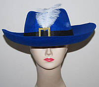 Шляпа Мушкетер синяя 170216-293