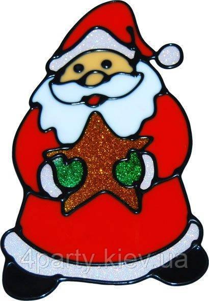 Желейна-наклейка Дед Мороз со звездой 040316-085